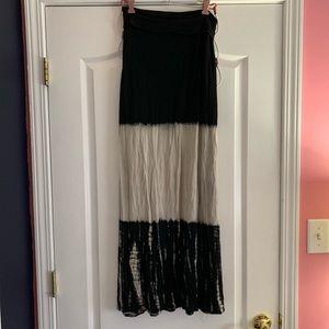 Windsor gray and black maxi skirt
